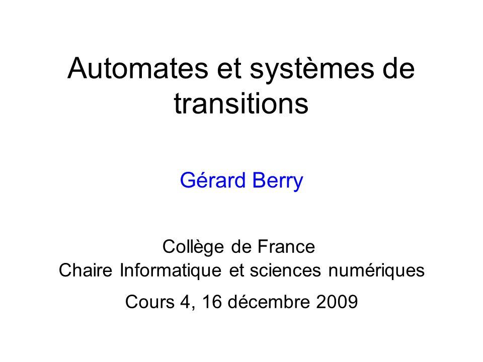 Automates et systèmes de transitions