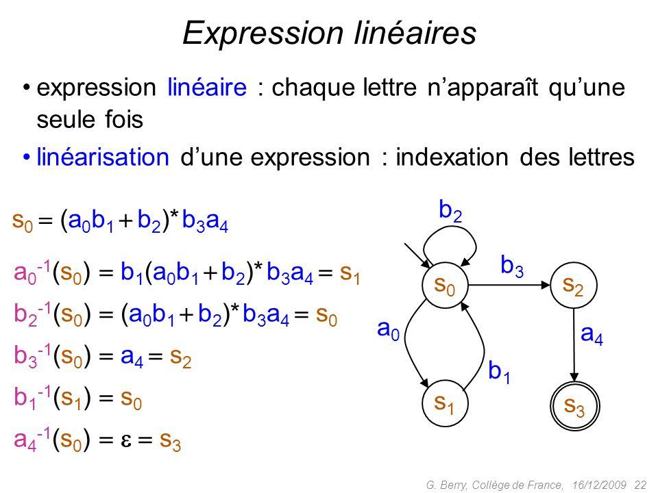 Expression linéaires expression linéaire : chaque lettre n'apparaît qu'une seule fois. linéarisation d'une expression : indexation des lettres.