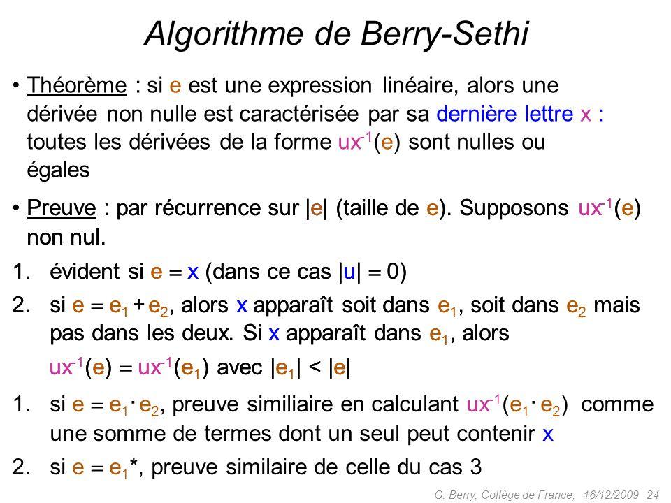 Algorithme de Berry-Sethi