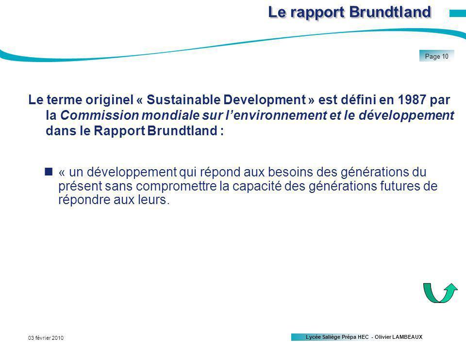 Le rapport Brundtland