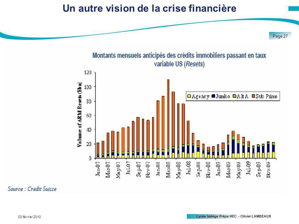 Un autre vision de la crise financière