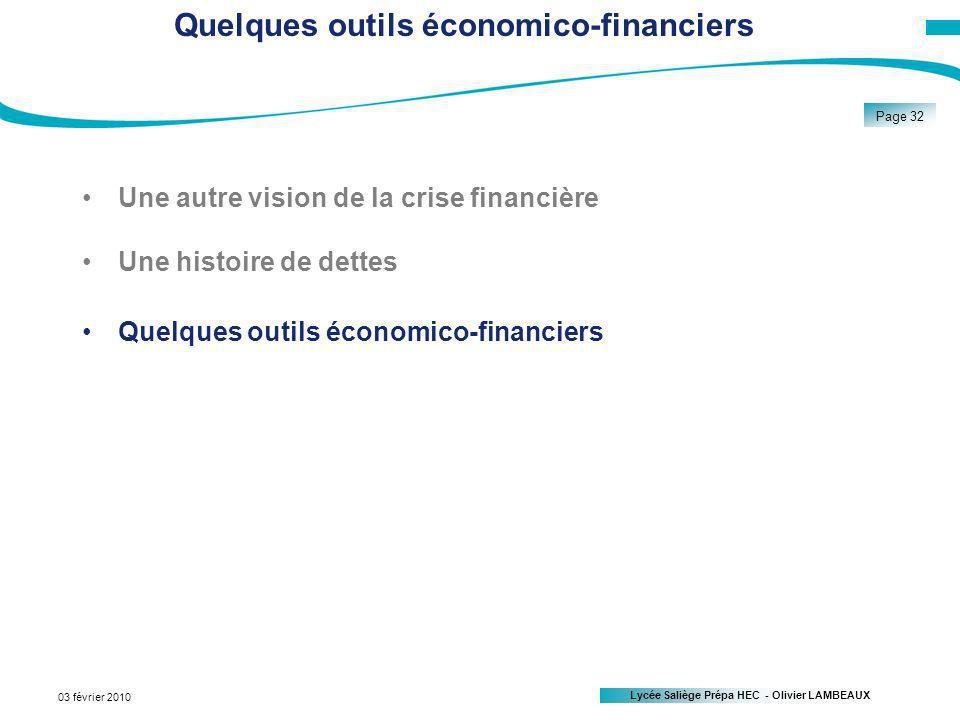 Quelques outils économico-financiers