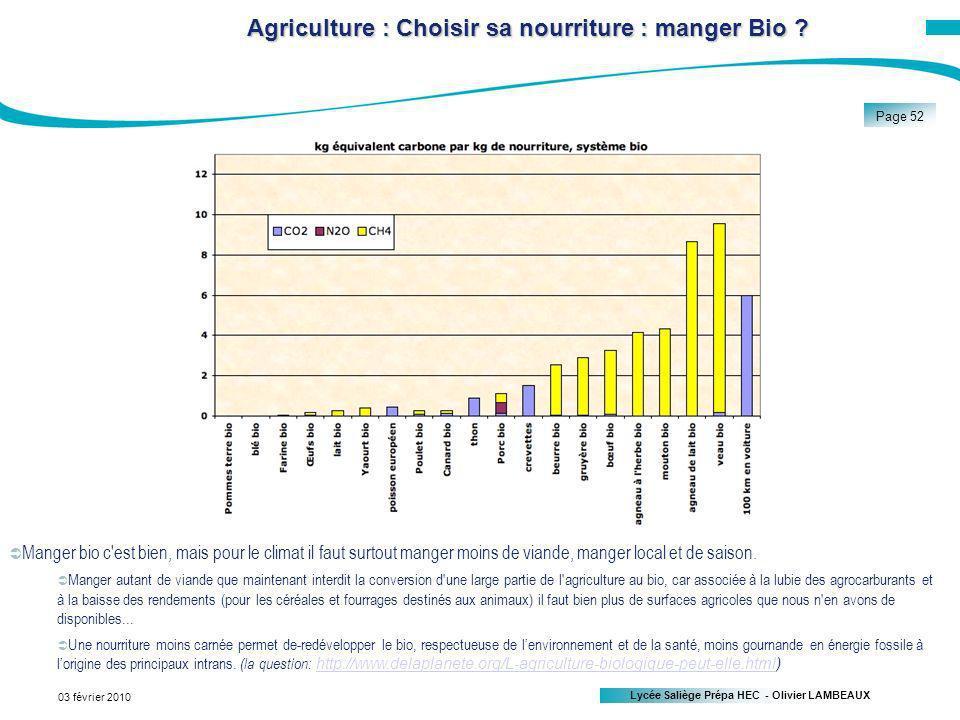Agriculture : Choisir sa nourriture : manger Bio