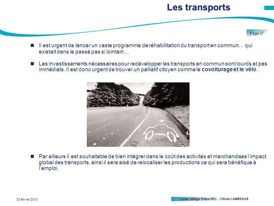 Les transports Il est urgent de lancer un vaste programme de réhabilitation du transport en commun… qui existait dans le passé pas si lointain…