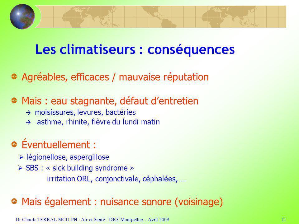 Les climatiseurs : conséquences
