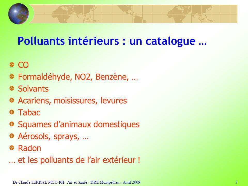Polluants intérieurs : un catalogue …