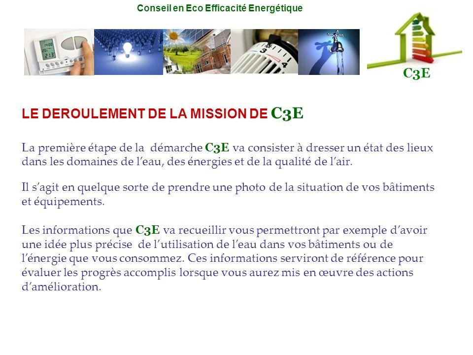LE DEROULEMENT DE LA MISSION DE C3E