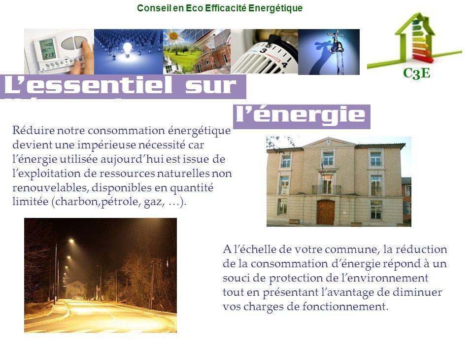 Réduire notre consommation énergétique devient une impérieuse nécessité car l'énergie utilisée aujourd'hui est issue de l'exploitation de ressources naturelles non