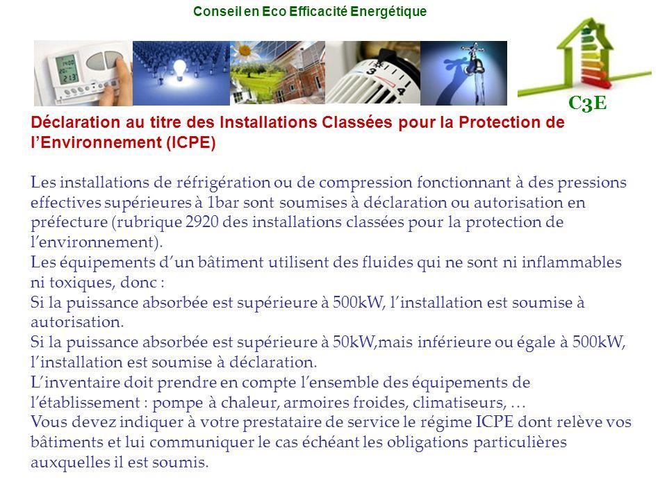 Déclaration au titre des Installations Classées pour la Protection de l'Environnement (ICPE)