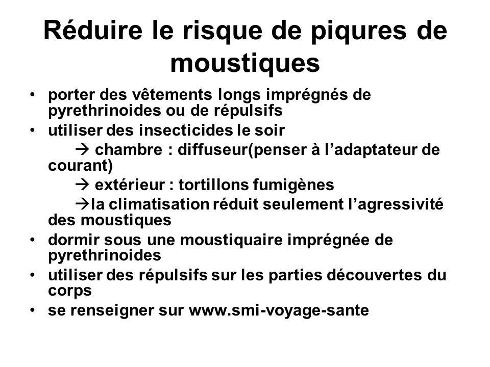 Réduire le risque de piqures de moustiques