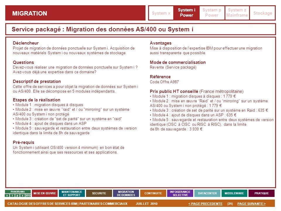 Service packagé : Migration des données AS/400 ou System i