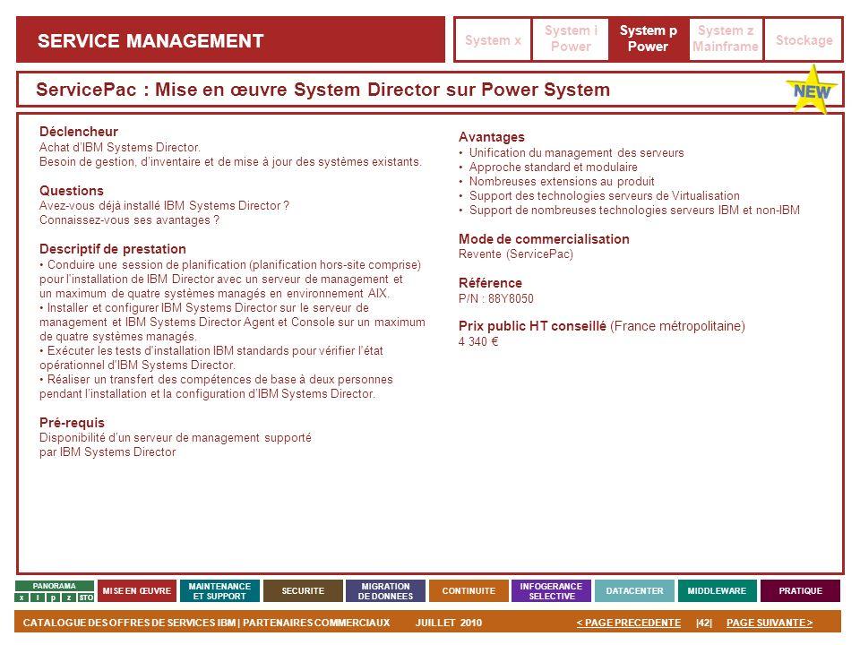 ServicePac : Mise en œuvre System Director sur Power System