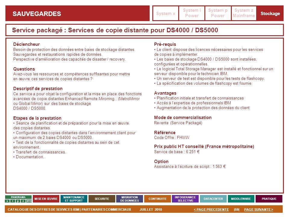 Service packagé : Services de copie distante pour DS4000 / DS5000