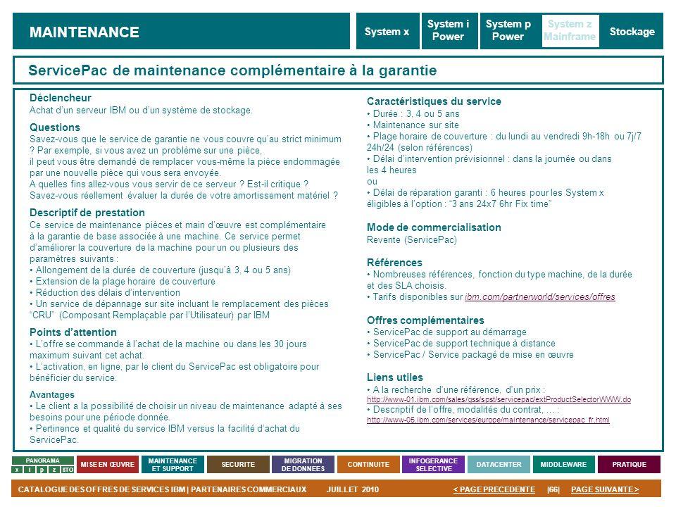 ServicePac de maintenance complémentaire à la garantie