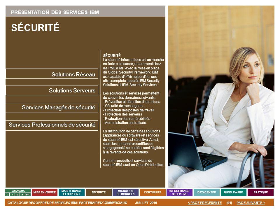 SÉCURITÉ Solutions Réseau Solutions Serveurs