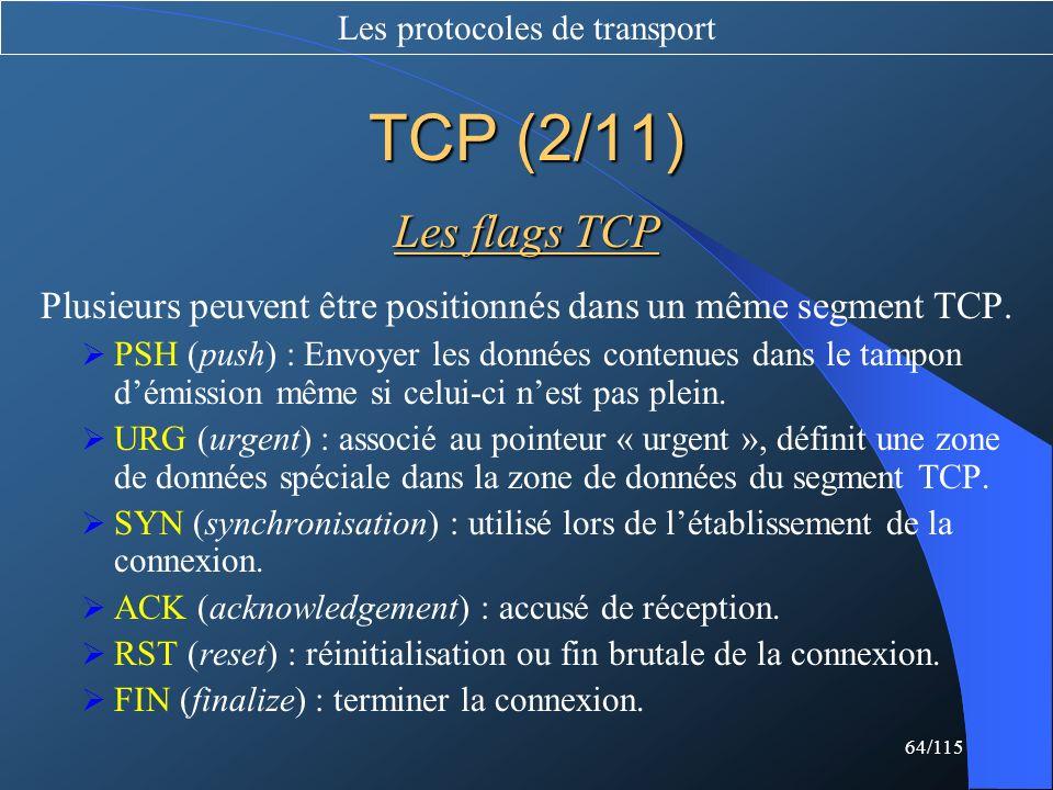 Les protocoles de transport