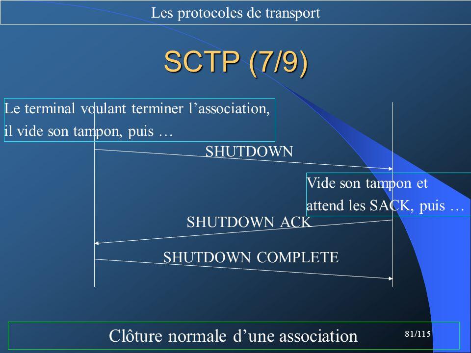 SCTP (7/9) Clôture normale d'une association