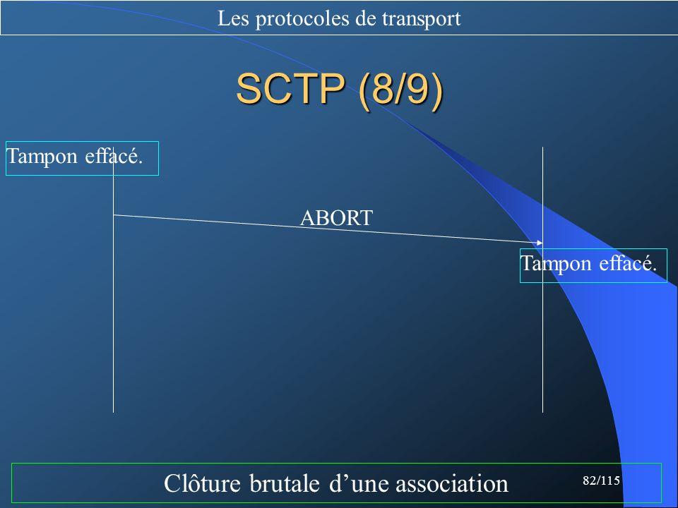 SCTP (8/9) Clôture brutale d'une association