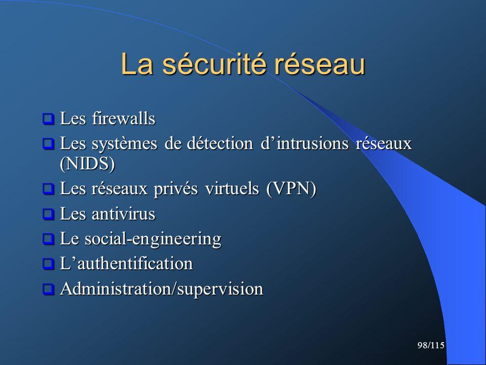 La sécurité réseau Les firewalls