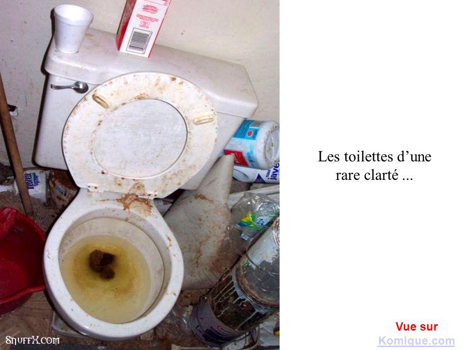 Les toilettes d'une rare clarté ...