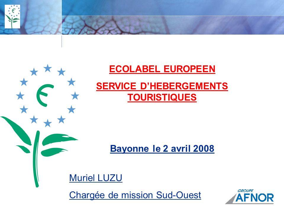 SERVICE D'HEBERGEMENTS TOURISTIQUES