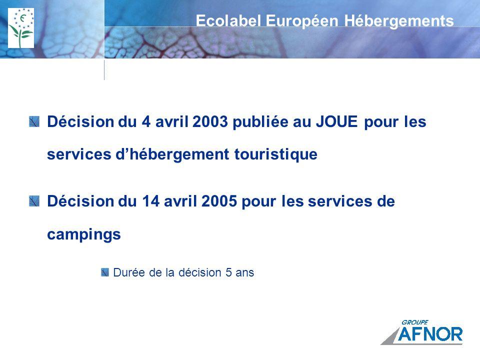 Ecolabel Européen Hébergements