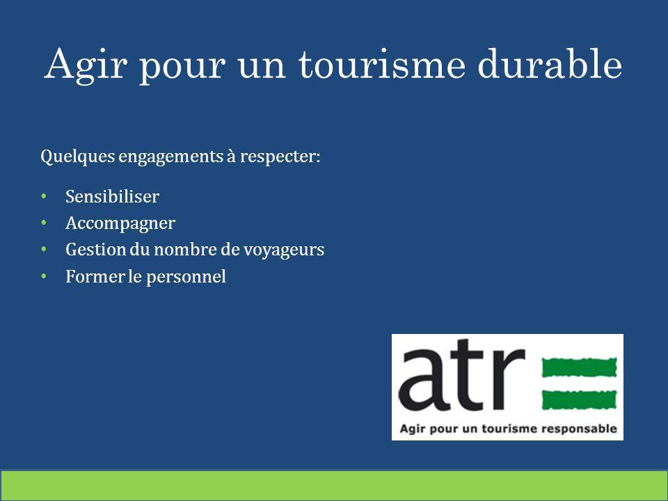 Agir pour un tourisme durable