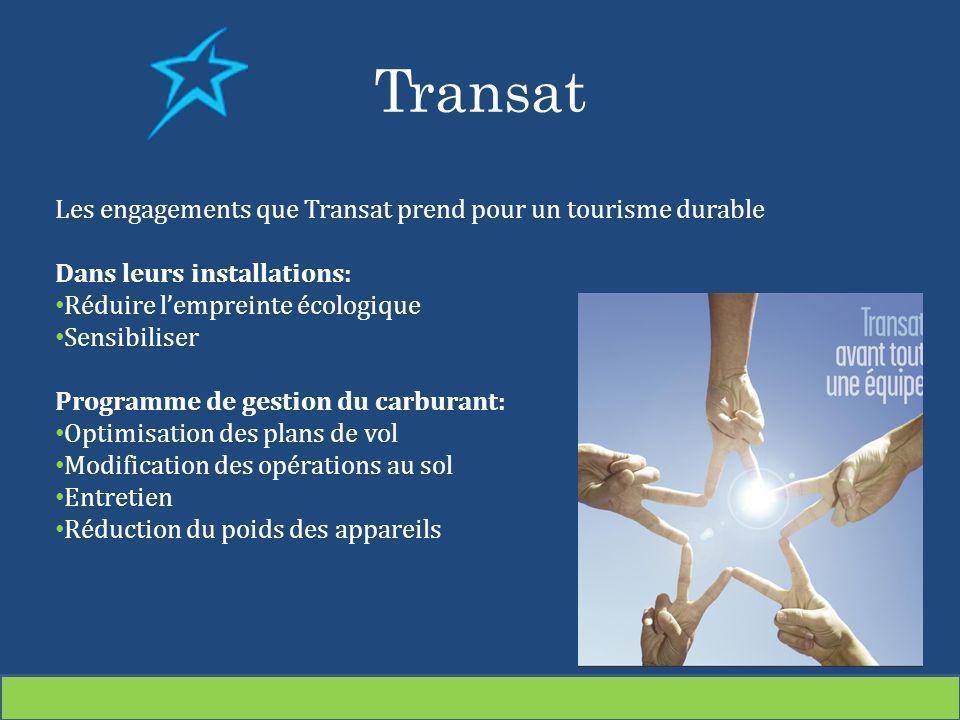 Transat Les engagements que Transat prend pour un tourisme durable
