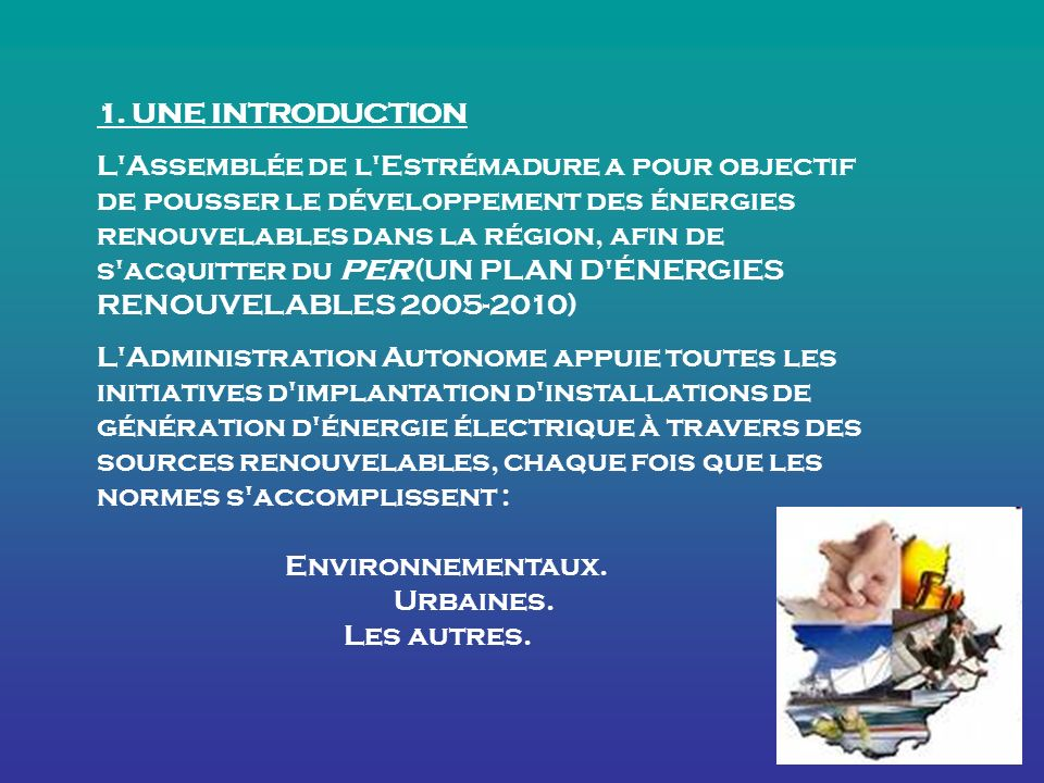 1. UNE INTRODUCTION