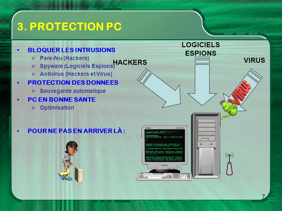 3. PROTECTION PC LOGICIELS ESPIONS VIRUS HACKERS