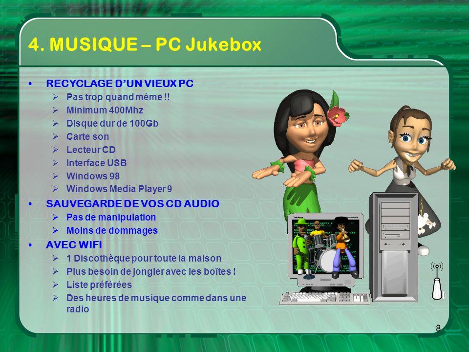 4. MUSIQUE – PC Jukebox RECYCLAGE D'UN VIEUX PC