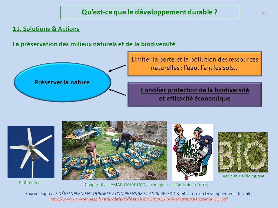 Qu'est-ce que le développement durable et efficacité économique