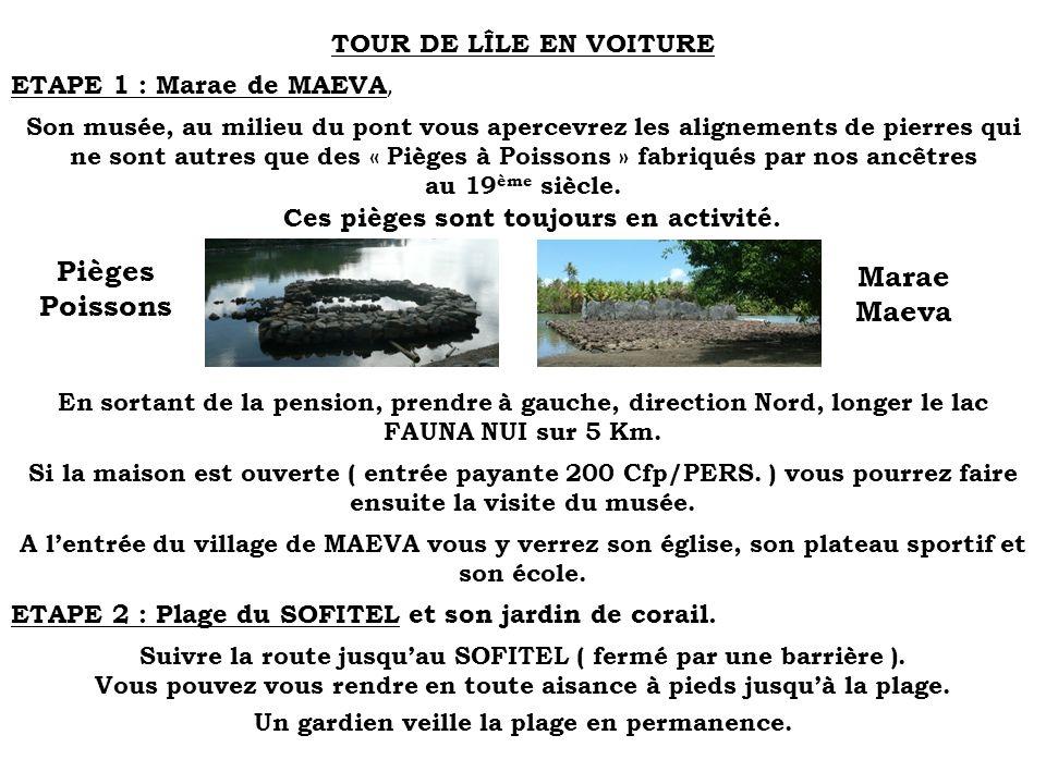 Marae Maeva TOUR DE LÎLE EN VOITURE ETAPE 1 : Marae de MAEVA,