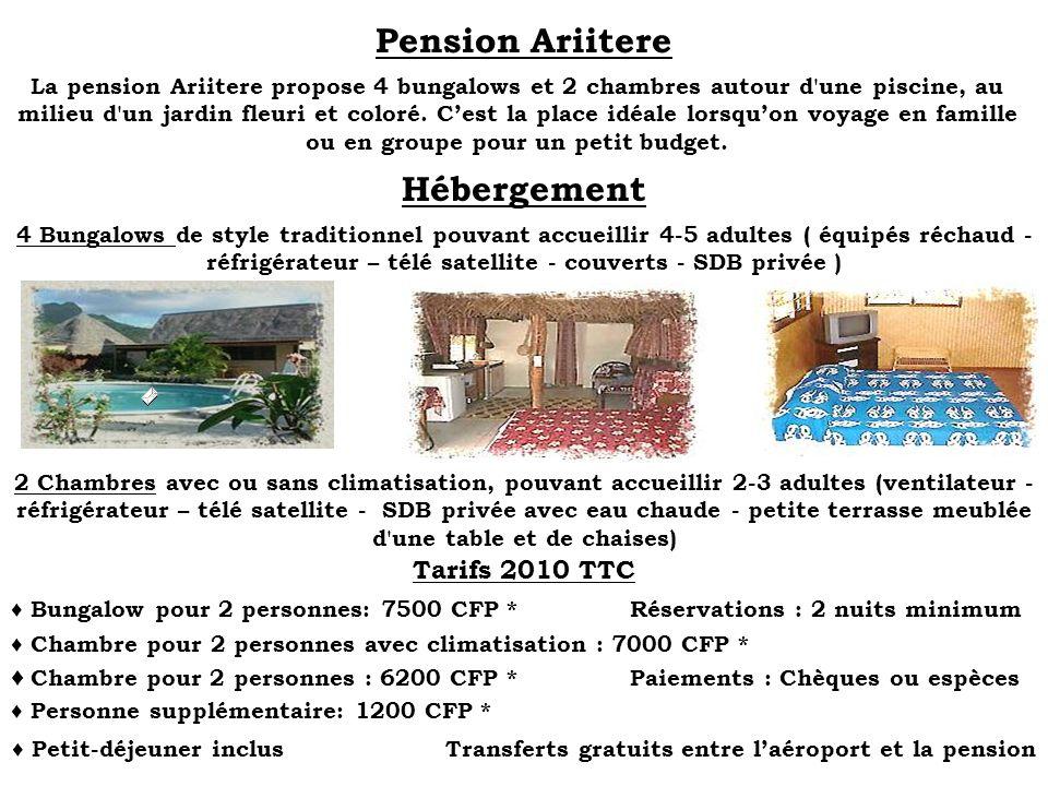 Pension Ariitere Hébergement