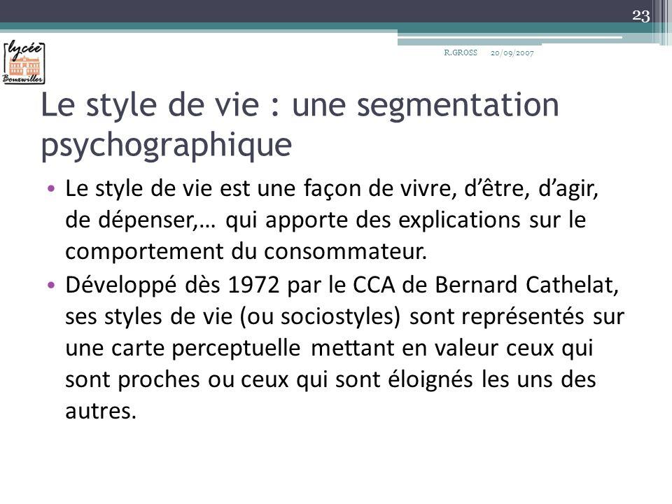 Le style de vie : une segmentation psychographique