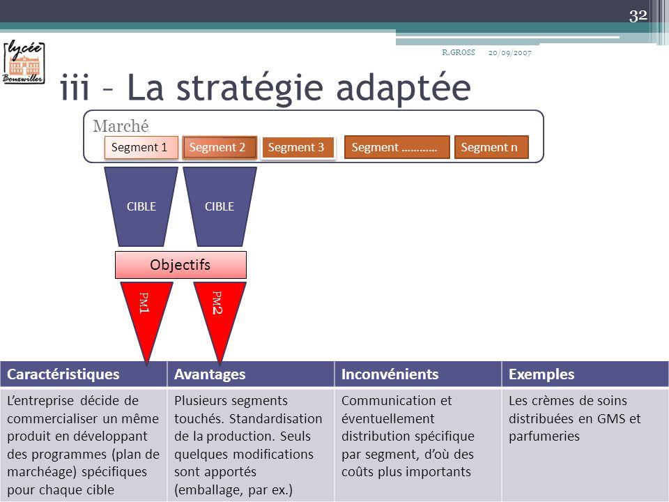 iii – La stratégie adaptée