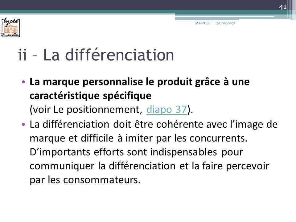ii – La différenciation