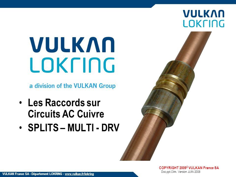Les Raccords sur Circuits AC Cuivre SPLITS – MULTI - DRV