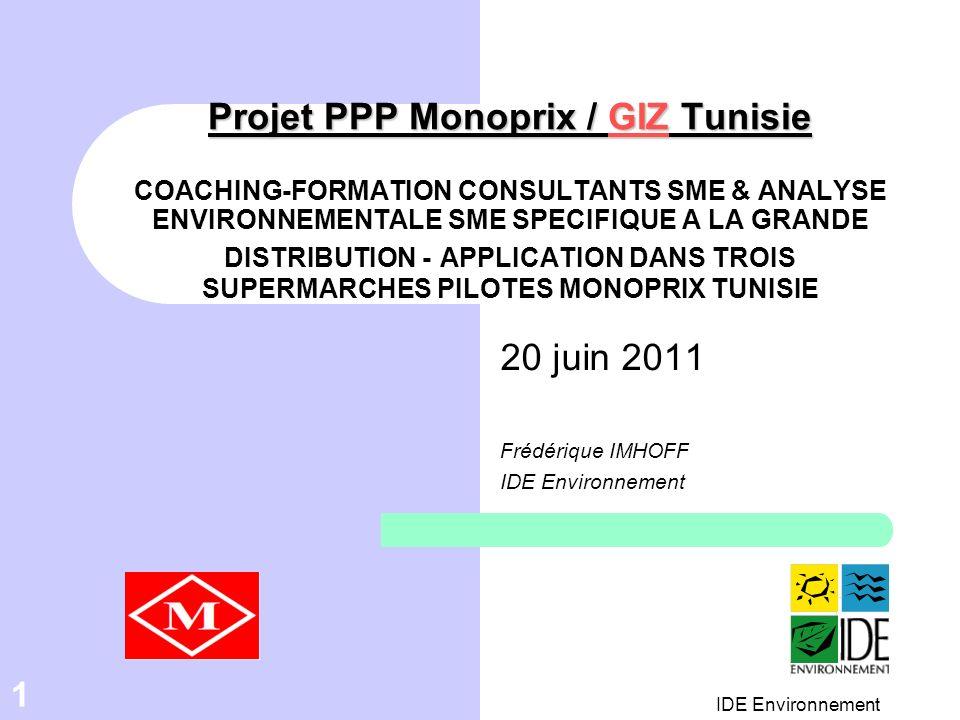 20 juin 2011 Frédérique IMHOFF IDE Environnement