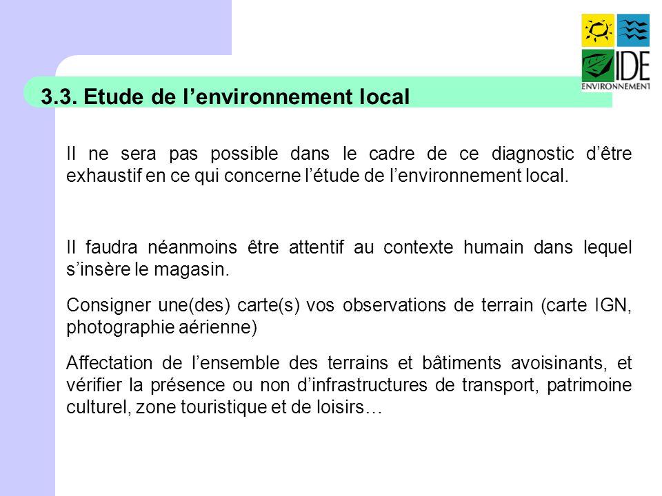 3.3. Etude de l'environnement local