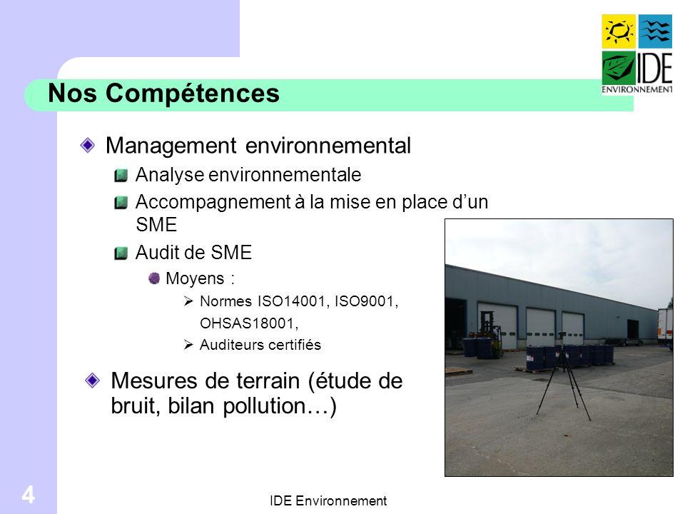 Nos Compétences Management environnemental