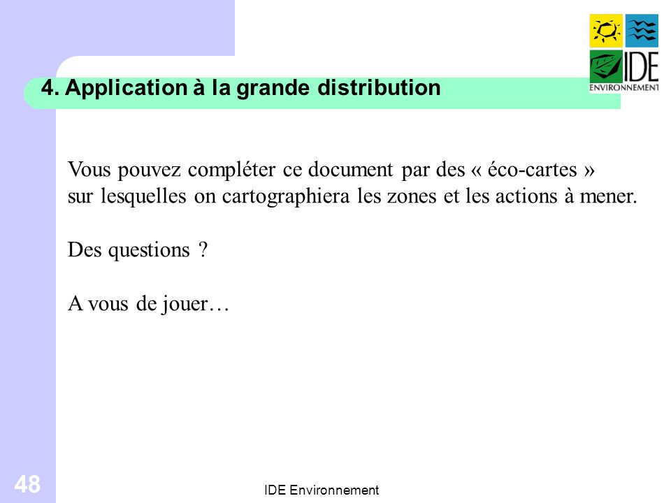 4. Application à la grande distribution