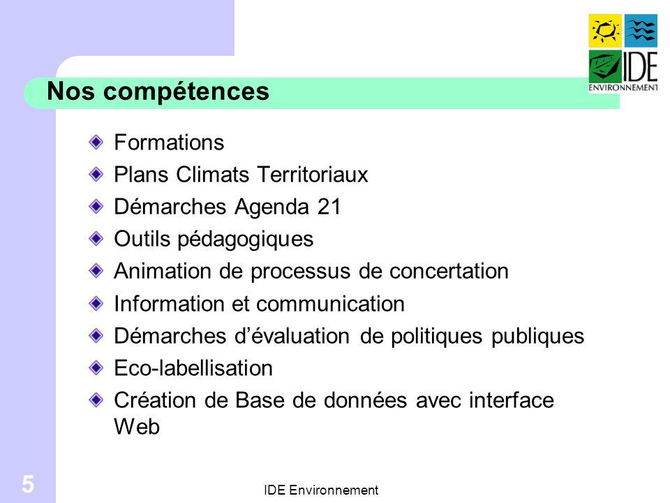 Nos compétences Formations Plans Climats Territoriaux