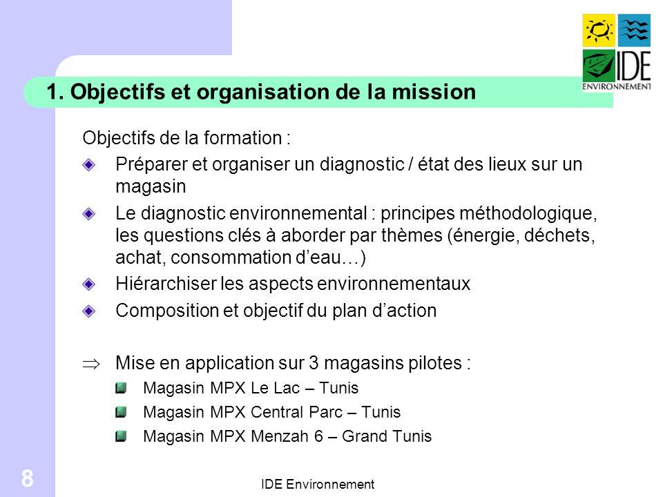 1. Objectifs et organisation de la mission