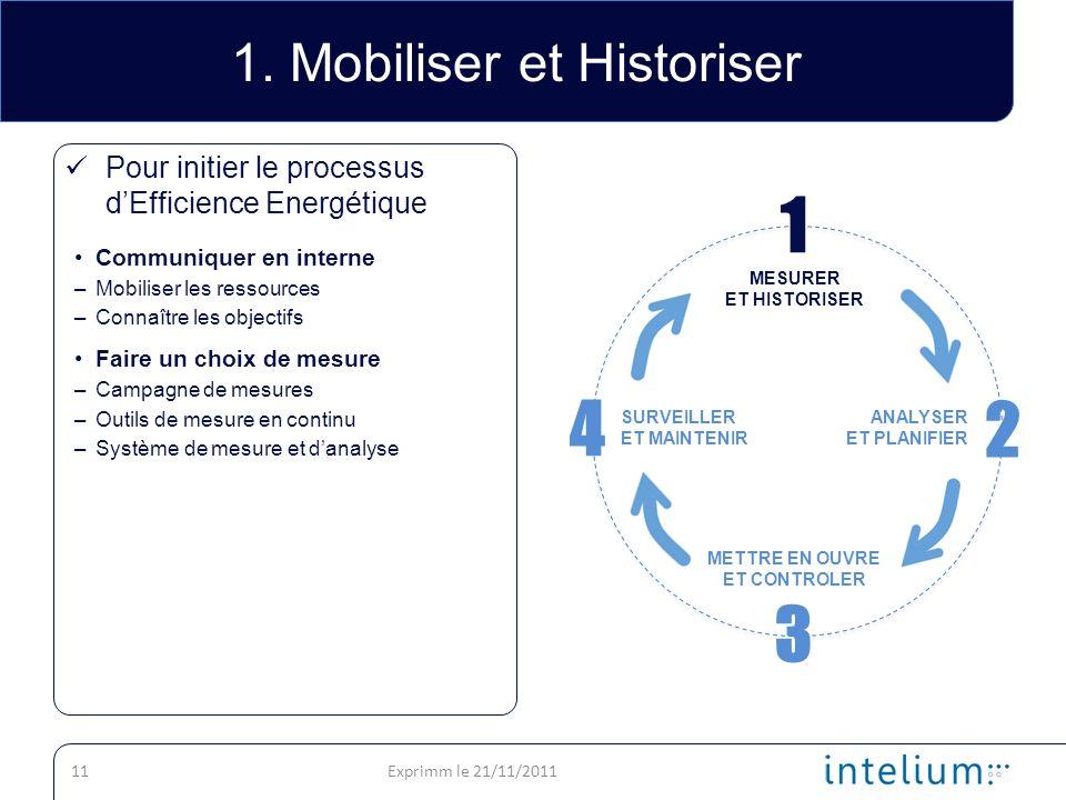 1. Mobiliser et Historiser
