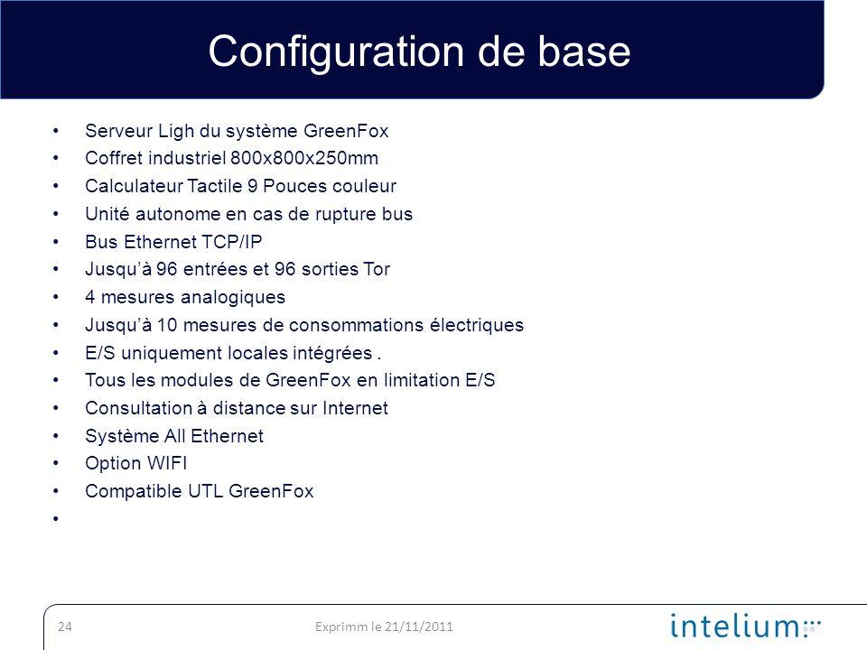 Configuration de base Serveur Ligh du système GreenFox