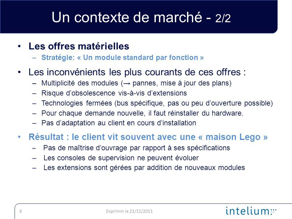Un contexte de marché - 2/2