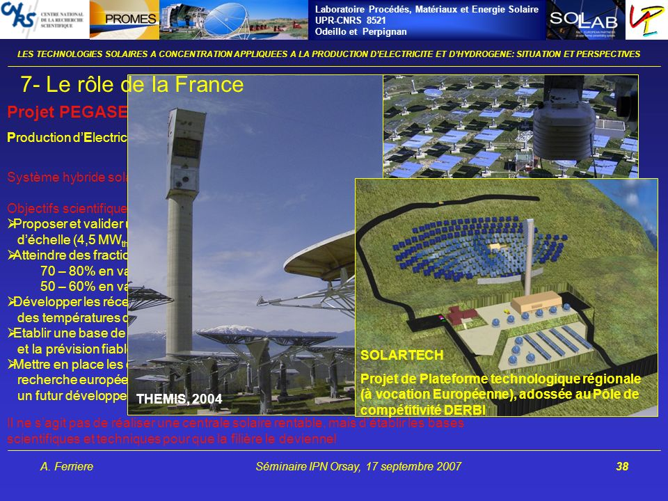 Vecteurs énergétiques: les travaux de recherche à l IMP/CNRS