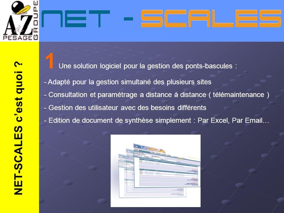 1 Une solution logiciel pour la gestion des ponts-bascules :