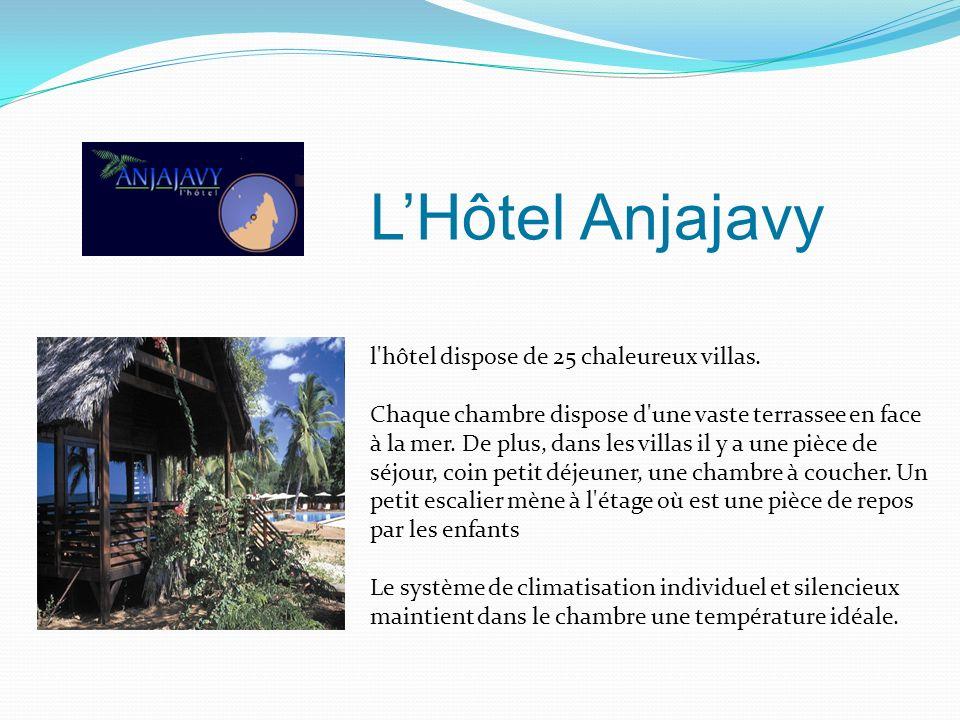 L'Hôtel Anjajavy l hôtel dispose de 25 chaleureux villas.